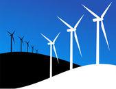 Eko ilustracja wiatraki — Wektor stockowy