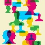 Social interaction symbols — Stock Vector