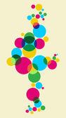 Multicolored bubbles background — Stock Vector