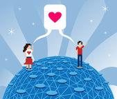 Online láska — Stock vektor