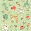 Paris icons design. - Stock Vector