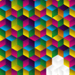 Royalty-Free Stock Vector Image: Multicolor cube background