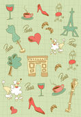 Paris icons design. — Stock Vector