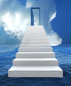 Risk and success business staircase — Stock Photo
