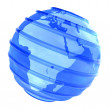 3D Planet glassy Earth focused in Africa — Stock Photo