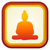 Buddha silhouette ilustration. — Stock Vector