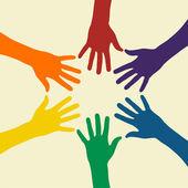 虹の手 — ストックベクタ