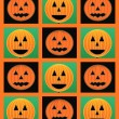 Halloween pumpkin faces — Stock Photo