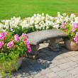 Stock Photo: Garden patio in bloom