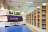 Marketing books — Stock Photo