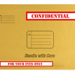 Envelope that is marked confidential — 图库照片 #4312560