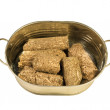 Compressed biofuel wood pellets — Stock Photo