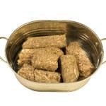 Compressed biofuel wood pellets — Stock Photo