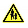 Yield to pedestrian sign — Stock Photo