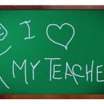 I love my teacher — Stock Photo #5197809