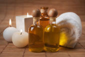 Spa Aromatic Massage Supplies — Stock Photo