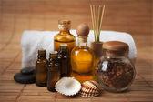 Spa Treatment Still Life with Seashells — Stock Photo
