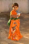 Little Girl in Sari — Stock Photo