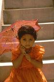 Baby with Umbrella — Stock Photo