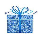 Stylized gift - vector — Stock Vector