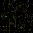 Abstract floral seamless background — Image vectorielle