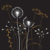 çiçek arka plan, karahindiba — Stok Vektör