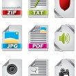 Icon set for files — Stock Vector