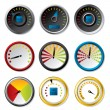 Speedometer set for downloads - Stock Vector