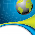 Abstract globe brochure — Stock Vector