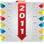 Arrow design 2011 calendar — Stock Vector
