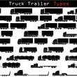 Truck trailer types - Stock Vector