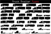 Truck trailer types — Stock Vector