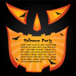 Stock Vector: Halloween party card