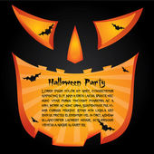 Halloween party card — Vector de stock