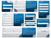 Klebrige web form-vorlage — Stockvektor