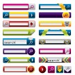 Search buttons and icons for the web — Stock Vector