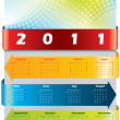 Arrow calendar for 2011 — Stock Vector