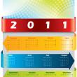 Arrow calendar for 2011 — Stock Vector
