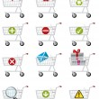 Shopping cart icons — Stockvektor