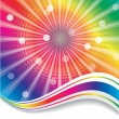 Stock Vector: Rainbow waves