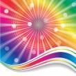 Rainbow waves — Stock Vector