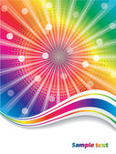 Rainbow waves — Stock Vector
