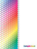 Fading hexagons in rainbow background — Stock Vector