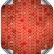 Hex world in red - Stock Vector
