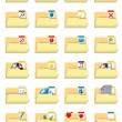 Folder icon set — Stock Vector