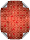 Hex world in red — Stock Vector