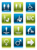 Toilette signs — Stock Vector