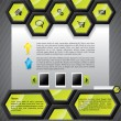 Stock Vector: Cool hexagon website template