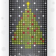 Stock Vector: Dotted christmas card