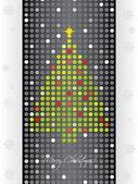 Cartão de natal pontilhada — Vetorial Stock